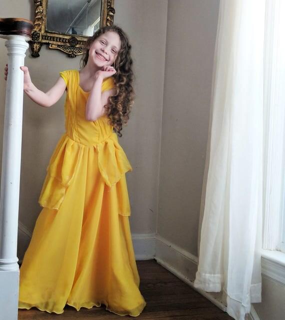 Belle Dress: beauty and the beast, Belle gown, Disney dress, Emma Watson Belle dress, Belle birthday, girls Easter, Belle Halloween costume