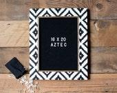 """Letter Board - AZTEC Pattern  - 16""""x20'' -Felt - Changeable Plastic Letters."""