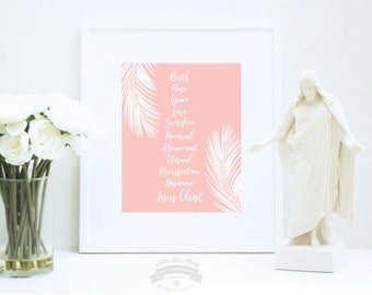 Easter Art Print, Christian Words of Easter, Religious Art Printable, Instant Download by Little Miss Missy