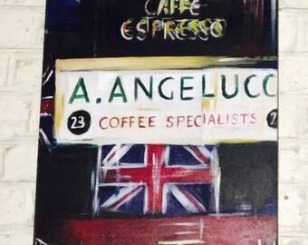 Soho London Acrylic on Canvas 40cm x 160cm