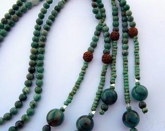 Dragon Blood Jade JUZU, JUZU, 108 Earthly Desires, SGI Buddhist Juzu, S G I Juzu, Jade and Aventurine S G I Juzu, S G I Nicheren Juzu Beads