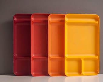 Vintage Harvest Divided Tupperware Trays