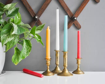 Vintage Brass Candle Holders Collection