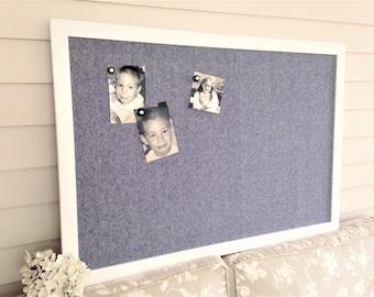 magnetic bulletin board large modern magnet memo board in super white pure white denim look linen