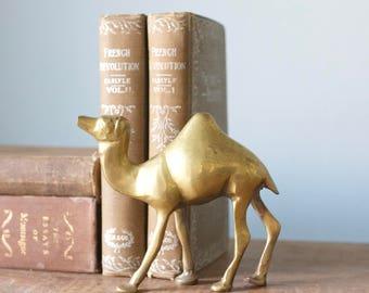Vintage Brass Camel Figurine