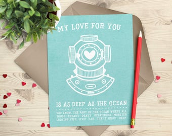 Valentines Day Card - Funny Love Card - Anniversary Card - Card for Husband - Card for Boyfriend - Card for Girlfriend - Card for Wife