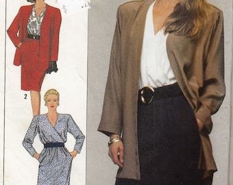 """Simplicity 9361 Women's Sewing Pattern Dress and Unlined Blazer Jacket Size6-14 Bust 30.5-36"""""""