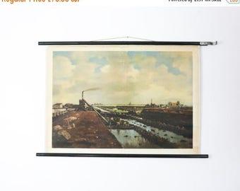 SALE Vintage School Chart, Dutch Polder