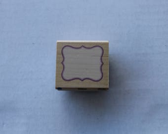 Small Decorative Border Rubber Stamp by All Night Media
