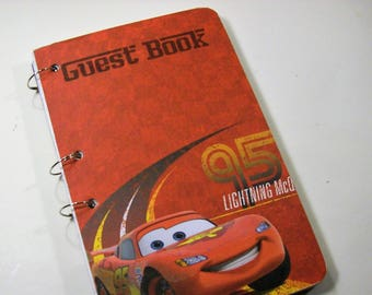 Guest Book, Cars Birthday, Party Boy Birthday, Cars Guest Book