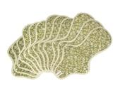 12 pieces Organic cloth pads set / Organic Cotton Cloth Menstrual Pads set - 3 Small, 3 Regular, 3 Large & 3 Overnight pads (Antique Green)
