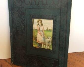 Antique Scrapbook with  FREE SHIPPING/ Advertising & Calling Cards / Paper Ephemera Scrapbook / Victorian Scrapbook
