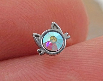 Cat Silhouette Nose Stud Nose Ring