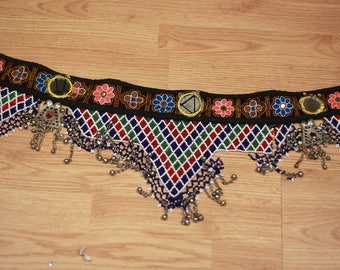 Vintage Kuchi Tribal Belly Dance Belt, ATS Festival Gypsy Costume