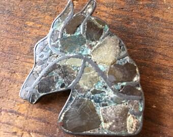 Vintage taxco sterling horse brooch