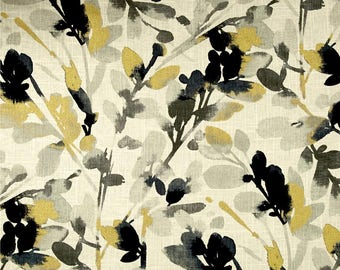 Pair of Custom Curtains, Waverly Leaf Storm Linen Graphite fabric 50x84 at this price, any size is available