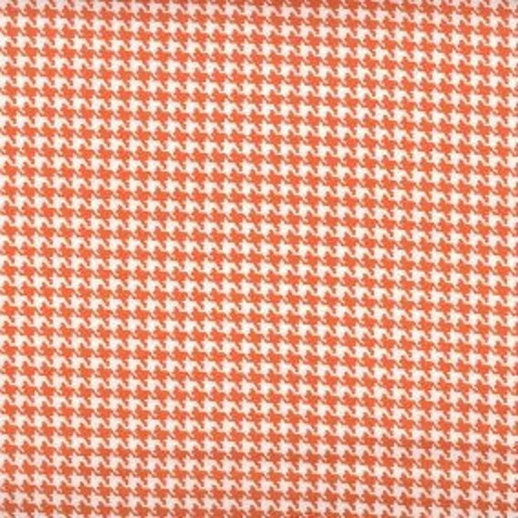 Houndstooth fabric,Orange and white houndstooth fabric,100% cotton,Quilt fabric,Apparel fabric,Craft,Sold by FAT QUARTER INCREMENTS