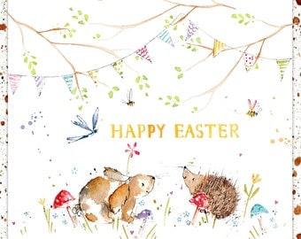 Handmade Easter Card Woods