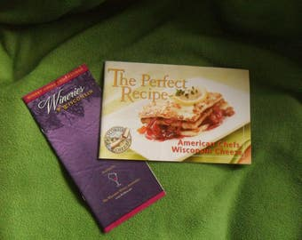 Collectible Advertising Cheese Cookbook and Winery List for Wisconsin, cheese, wine, Michael Symon