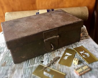 Vintage Industrial Small Metal Storage Box