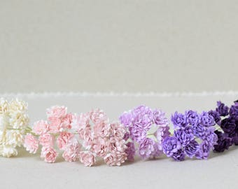 10 mm   / 80   Mixed colors of  Paper  flowers , Gypsophila  paper  flowers , Baby's breath paper flowers
