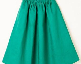 Connie Skirt Emerald Linen