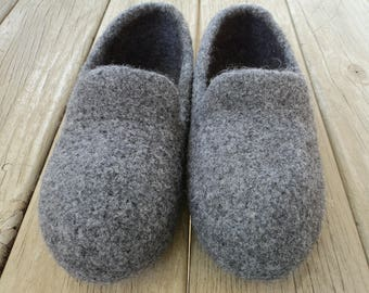 PDF Big Guy's Slipper Felted Wool Knitting Pattern Large US Mens sizes 14-17