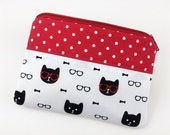 Cat Zipper Pouch, Coin Purse, Zipper Wallet, Card Pouch, Gift for her, Gift ideas, Padded Pouch, Change Purse