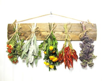 Herb Drying Rack, Dried Herbs, Rustic, Dried Herb Arrangement