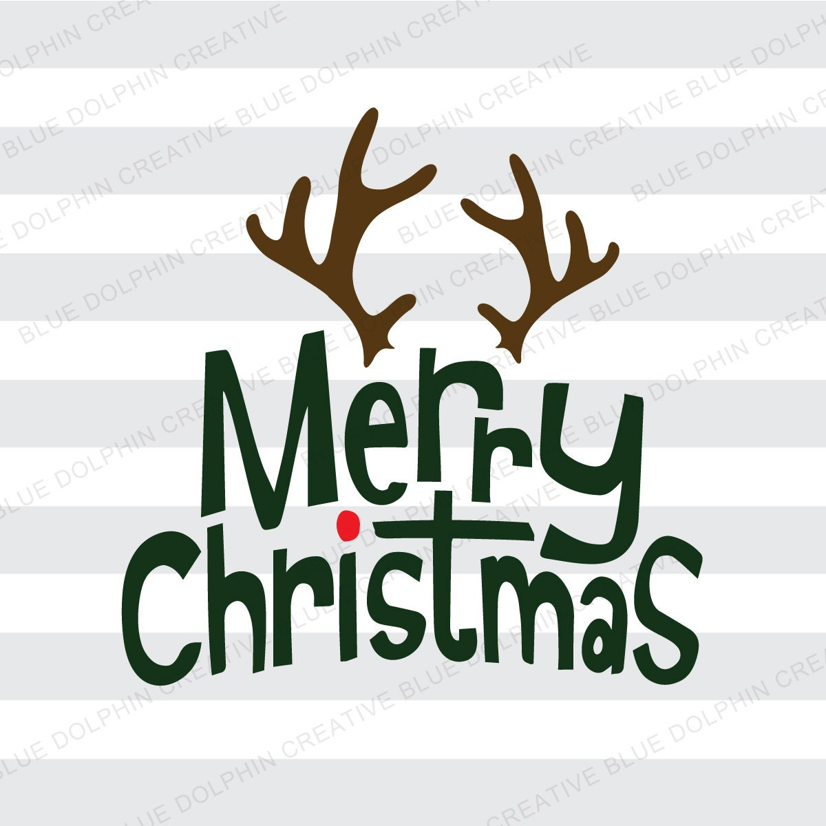 Merry Christmas Antlers Svg Dxf Png Pdf Jpg Ai Cut Files For