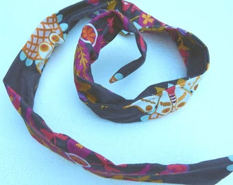 Moths and floral medallions wired hair accessory headband