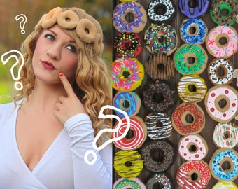 Custom DONUT CROWN | Fake Dessert Headband, any color or style | Make Your Own Hair Accessory