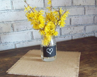 Small Burlap Table Square, 12 x 12, 15 x 15, Wedding Table Squares, Rustic Table Decor, Small Table Toppers, Rustic Barn Wedding