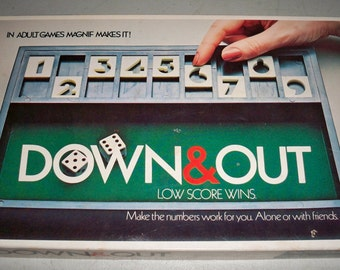 """Vintage 1979 """"Down & Out"""" Game by Mag-Nif, Inc."""