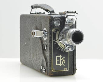 Vintage 1930's Cine Kodak Model K 16mm Movie Camera in Excellent Working Condition, With 100' Take-up Spool