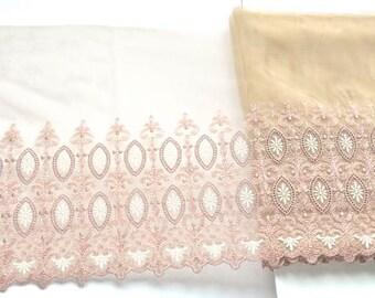 Vintage Style Lace Trim, Old Rose Pink Lace Trim, Tea Rose Pink Trim, Pink Tutus, Lingerie, Dolls, Hat Scarves, Lace Upcycling, Lace Crafts