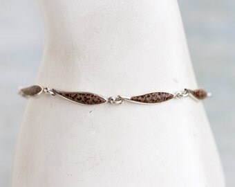 Animal Pattern Links Bracelet - Sterling Silver
