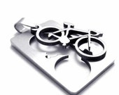 """2 in 1  Men dog tag Charm pendant-1.5"""" Bicycle Charm PENDANT, plished stainless steel pendant"""