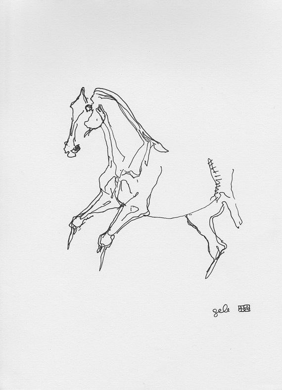 Galloping horse sketches - photo#45