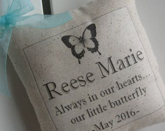Miscarriage, Sympathy, SIDS, Still Born Baby, Baby Loss, Spiritual Gifts, Personalized Pillow, Memorial Pillow, Kids Sign, Custom Baby Name