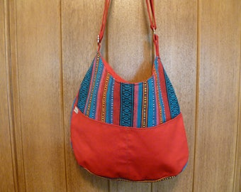 Red and Blue Reversible Hobo