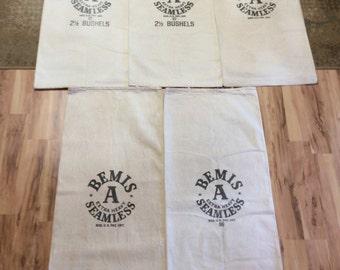 5 pack of Bemis A Extra Heavy Seamless sacks. 1027162