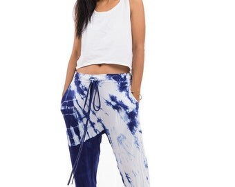 Tie Dye pants, Comfy trousers, shibori pants : Urban Chic Collection no.15 (SI-002)