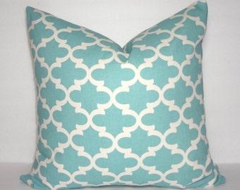 Village Blue Fulton Mini Moroccan Geometric Designer Pillow Cover Premier Prints Choose Size