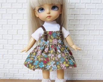 Lati yellow outfit, lati yellow overalls : Flora  dress overalls