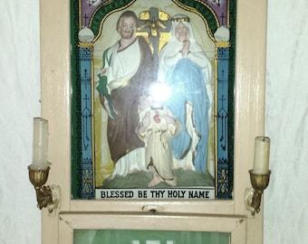 Viaticum Last Rites Holy Family Shadow Box