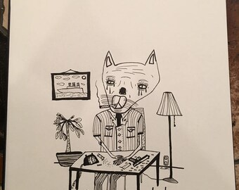 Mister Kitty (original drawing)
