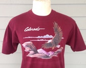Late 80's, early 90's Colorado t-shirt, fits like a medium