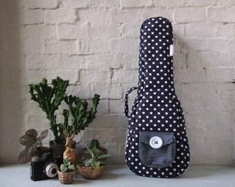 Concert ukulele case - Polka dots Ukulele Bag (Ready to ship)