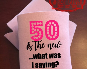 Custom Light Pink Personalized Can Cozie, Personalized Cozie for Soda/Beer Cans, Great for Girls Weekend, Parties!